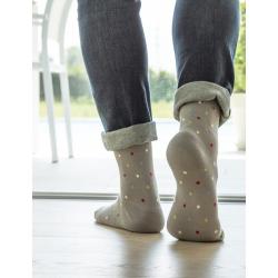 RELAXSAN Fancy Socks Podkolanówki uciskowe z bawełny - szare w kropki CCL1
